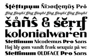 Stettinum Nicodemus PRO - szczeciński font prosto z murów szczecińskich kamienic