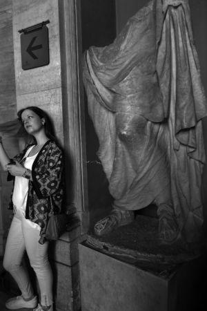 "fot. Timm Stütz - Vaticanmuseum - ""Roma à la HCB"""